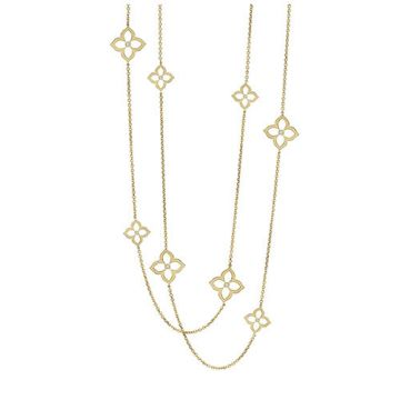 Gumuchian G. Boutique 18k Yellow Gold Diamond Lotus Necklace