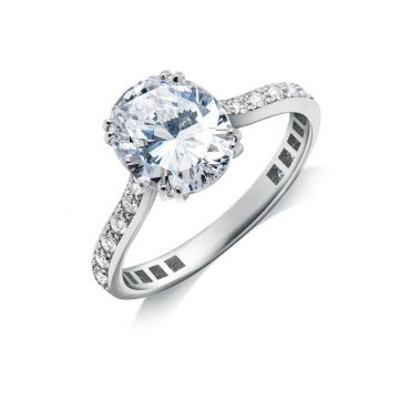 "Gumuchian ""Jessica"" Platinum Diamond Semi-Mount Engagement Ring"